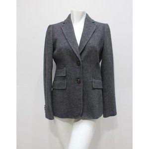 J CREW Womens Sz 0 Herringbone hacking blazer wool